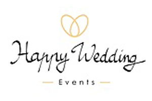 happy wedding logo